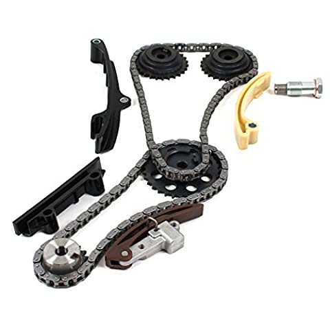New TK10780 (Upper - SINGLE Wide Chain) Timing Chain Tensioner Sprockets Kit for Volkswagen Eurovan Golf Jetta 2.8L VR6 AFP Engine 1998-02 (will NOT fit AAA engine models) by CNS