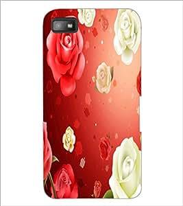 PrintDhaba Roses D-2426 Back Case Cover for BLACKBERRY Z10 (Multi-Coloured)