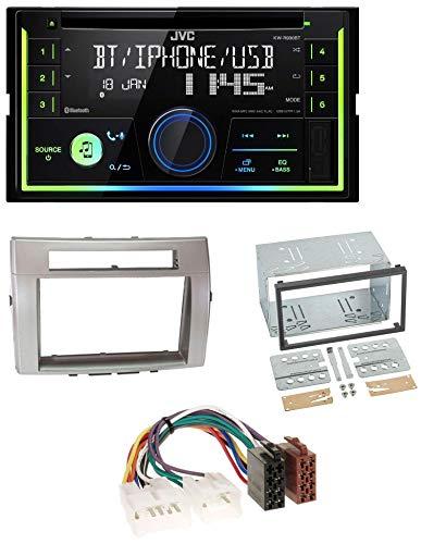 caraudio24 JVC KW-R930BT MP3 Bluetooth USB CD 2DIN AUX Autoradio für Toyota Corolla Verso 04-09 Silber Toyota Ipod