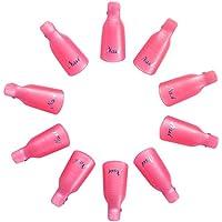 imanom Clips de uñas para uñas herramienta 10pcs reutilizable dedos y dedos Gel Nail Art Soak Off Cap Clip