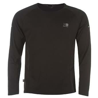 Karrimor Mens Long Sleeved Running T Shirt Mens Black XS