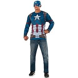 Rubies Camiseta Capitan America Ad 810912