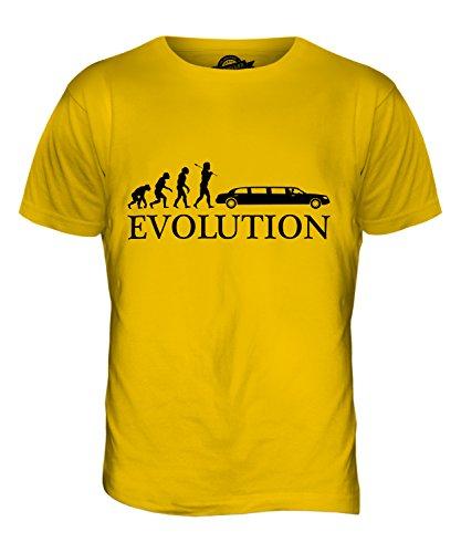 CandyMix Stretch-Limousine Evolution Des Menschen Herren T Shirt Dunkelgelb