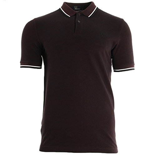 fred-perry-slim-fit-twin-tipped-polo-shirt-mahogany-l