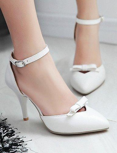 WSS 2016 Chaussures Femme-Bureau & Travail / Habillé / Soirée & Evénement-Bleu / Rose / Blanc / Beige-Talon Aiguille-Talons / D'Orsay & Deux blue-us5.5 / eu36 / uk3.5 / cn35