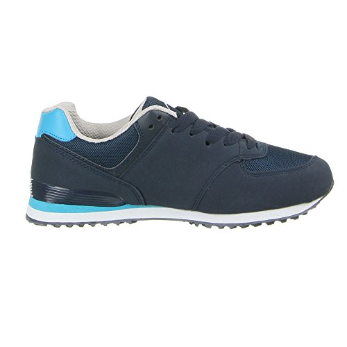 Ital-Design , Low-top femme Bleu - Bleu