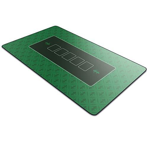CSL-Computer Profi Pokermatte 1000 x 600 mm | XXL-Format | Pokerteppich Pokertischauflage | Gummiunterseite für stabilen Halt | abwaschbar | Design: Pokermatte | grün