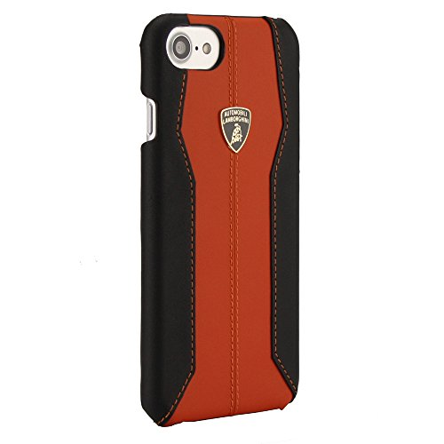 Lamborghini Etui pour iPhone 7/6s/6 Noir Orange