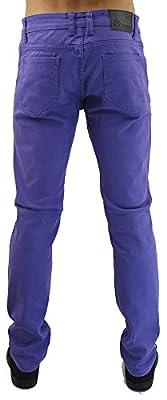 Kayden K Men's Twill Skinny Jeans Deep Blue-36x30