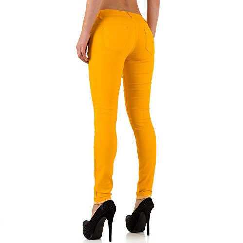 iTaL-dESiGn - Jeans - Skinny - Femme Jaune