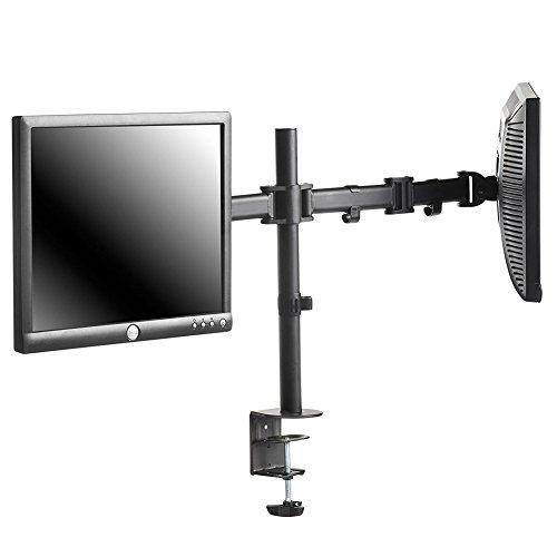 Dual LED Monitor Tischhalterung Voll einstellbar Geeignet für zwei Bildschirme für 10