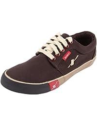 Sparx Men's SC0175 Series Dark Brown Canvas Casual Shoes