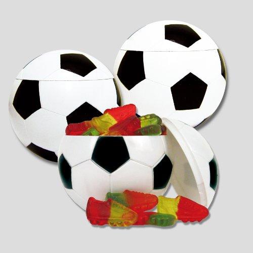 3er Set Fußballdose Ball Box Fruchtgummi