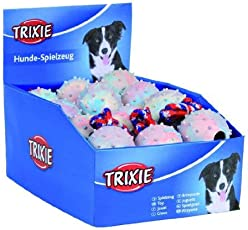 Trixie Ball On A Rope Natural Rubber Dog Toy