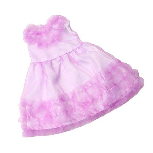 D DOLITY Hübsche Puppenkleidung Prinzessin Spizten Abendkleid Ballkleid Kleidung für 18