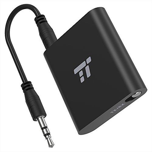 Bluetooth Adapter TaoTronics Transmitter und Empfänger 2-in-1 Bluetooth 4.1, Kabelloser Audioadapter 20 m / 65 ft, Freisprech-Telefonate, aptX LL mit 2 Geräten verbinden, 3,5mm- & RCA-Verbindungen