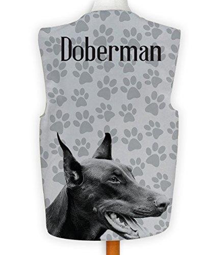 Dobermann Kostüm - NEUHEIT Weste Kostüm Spass Legere Hirnrissig Party Hund Anzeigen Dobermann Klaue - Mehrfarbig, M