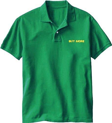 ore Electronics Store Employee grün Kostüm Tee Polo (Small) (Chuck Kostüme)