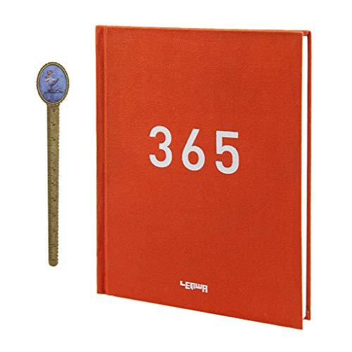 365 diario giornaliero, agenda giornaliera, formato A5, agenda giornaliera giornaliera, calendario, calendario, agenda personale, pagine numerate, quaderno appuntamenti, agenda Red