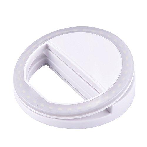 eBoot 36 LED Ring Selfie Light Supplementary Lighting Night Selfie Enhancing for Smartphones, White