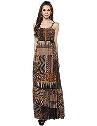 Taurus Women's Rayon Grey Mystical Dress