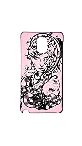Vector Abstract Portraits Of Two Girls Mobile Back Case/Cover For Samsung Galaxy Note 4