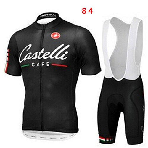 Preisvergleich Produktbild Sport Herren Fahrradbekleidung Fahrrad-kurze Hülse Jersey + Bib Shorts Anzug Sportwear
