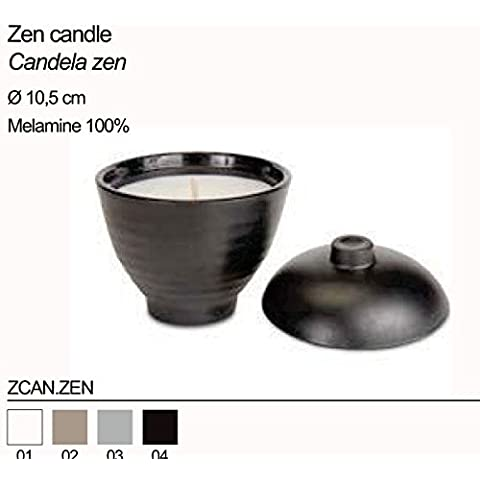 Candela zen in melamine BACI MILANO ZCAN.ZEN incenso nera?