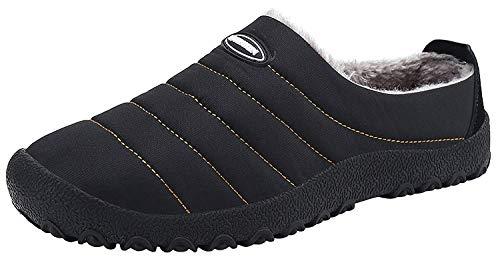 Yooeen pantofole inverno all'aperto caldo peluche morbido impermeabile antiscivolo interne ciabatte ciabatta pantofola scarpe invernali per uomo donna dimensioni eu 36-48