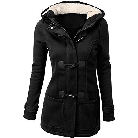 Fortan Adatti a donne Windbreaker tuta sportiva calda lana Slim cappotto giacca lunga trincea