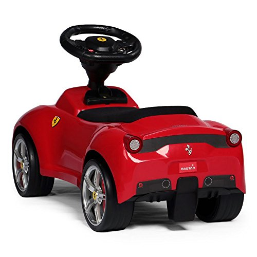 Image of Ferrari 458 Licenced Push Along Car Ride On Foot To Floor First Car Baby Racer Toddle Kid