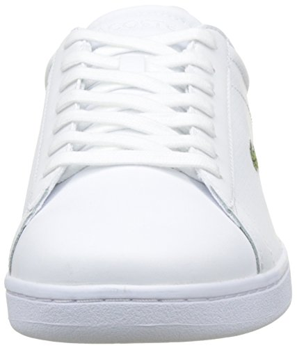 Lacoste Carnaby Evo 217 1, Basses Homme Multicolore (Wht/Dk Orange)