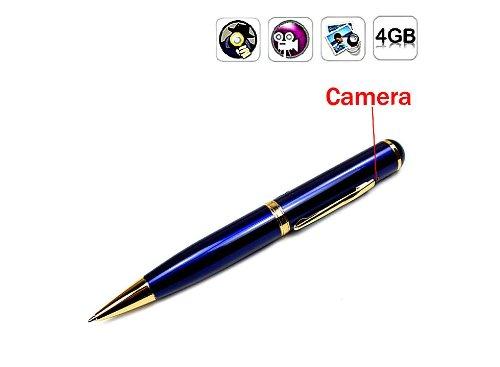 Gadget Advice® Latest Blue 4 GB Internal USB Flash Drive Stick Mini Pin-hole Spy Camera Cam Pen Hidden Video Camera Recorder DV DVR