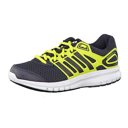 Adidas Duramo 6, Running Entrainement Mixte Enfant Blanc-Noir-Vert clair
