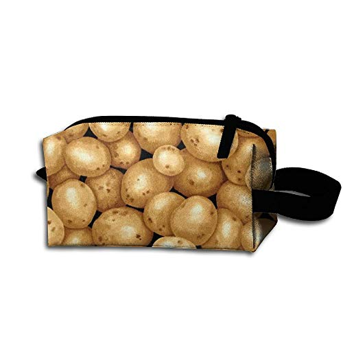 Garden Potatoes Black Travel Bag Printed Multifunction Portable Toiletry Bag Cosmetic Makeup Pouch Case Organizer for Travel. -
