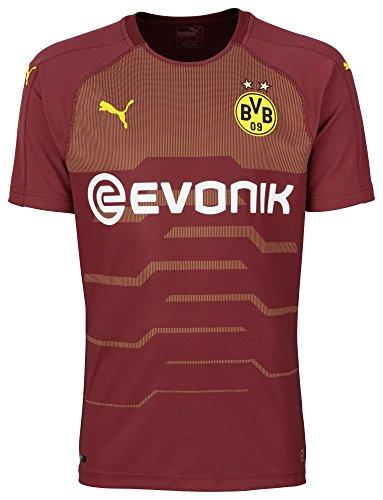 Puma BVB–SS GK Camiseta de réplica with Evonik with out Opel Logo Camiseta, Hombre, 754796, Pomegranate, Medium