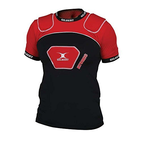 Gilbert Epaulière de Rugby Atomic V2 - Noir/Rouge
