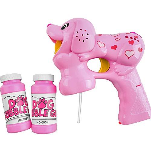 Ydq Pistola per Bolle di Sapone con Luce LED,Bolle di Sapone con LUCI Giocattoli per Bambini Gadget per Feste,Confezioni di LED Illuminano La Pistola A Bolla Lampeggiante E Il Suono Shooter,Pink