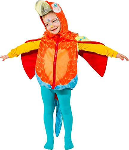 Fee Tier Kostüm - Unbekannt Tier Kostüm für Kinder Gr. 104 Papagei zur Auswahl Fasching Karneval
