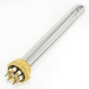 Sourcingmap a13051400ux0584Élément chauffant en acier inoxydable pour chaudière d'eau électriques, argent/or