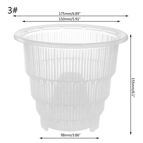 Xmtpf en maille Pot plastique clair Fleur d'orchidée Container Pot de fleurs Maison jardinage Décoration, claire, 3#