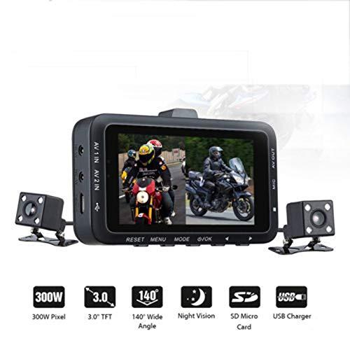 KAR Dual-Kamera-Motorrad DVR Schlag-Nocken-DV168 3,0-Zoll-1080P HD G-Sensor-Fahrenrecorder Mit Front- Und Rückfahrkamera