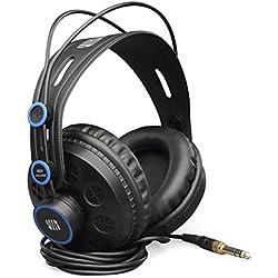 """PreSonus HD7-A - Auriculares de diadema cerrado para DJ (Jack 6.35 mm 1/4"""", potencia 300 mW, cable de 2.5 m) color negro y azul"""