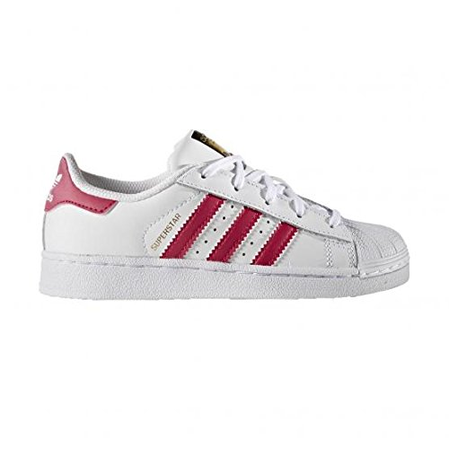 adidas-superstar-foundation-zapatos-de-baloncesto-infantil-multicolor-ftwwht-bold-pink-ftwr-white-35
