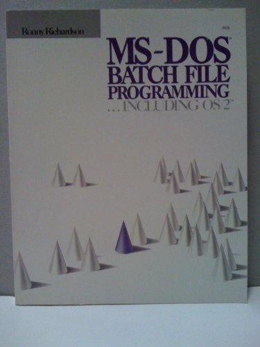 Min Baghdasar: PDF MS-DOS Batch File Programming by Ronny