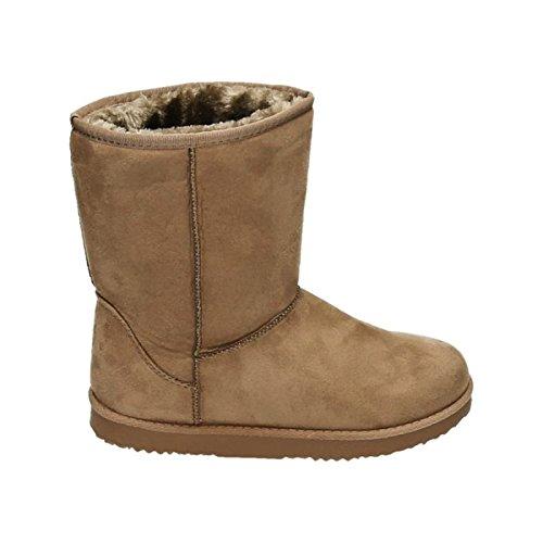 Stiefel 783 Schlupfstiefel Stiefeletten Boots Khaki Winter Schuhe Flache Warm Gefüttert Schnee Damen qnE7fxpf