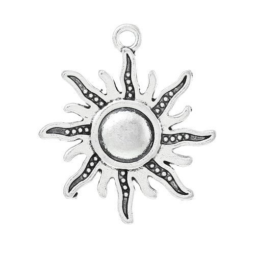 pacco-5-x-argento-antico-tibetano-28mm-ciondoli-pendente-sole-zx06600-charming-beads