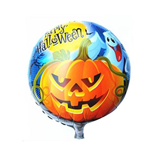 HCFKJ 2017 Mode Halloween KüRbis Halloween 18 Zoll Aluminium Film Ballon (A)