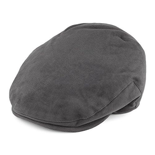 149cf2ef9513e8 Gorra plana de tela suave de algodón de Christys Hats - Gris - MEDIUM