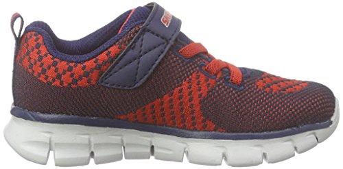 Skechers Synergymini Knit, Sneakers basses garçon bleu (NVRD)